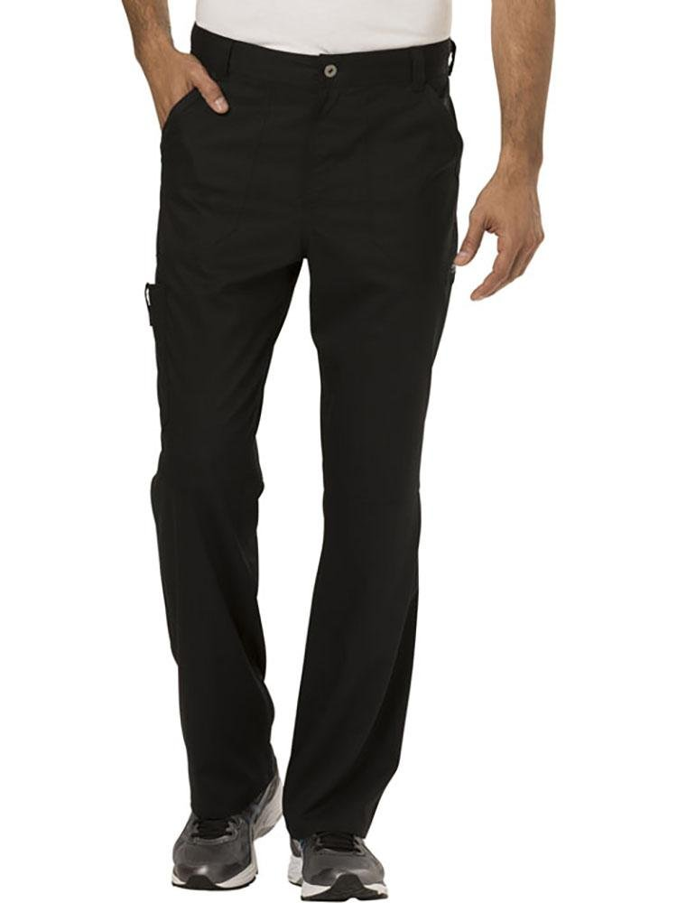 Cherokee Workwear Revolution Men's Drawstring Cargo Scrub Pant | Black - Scrub Pro Uniforms