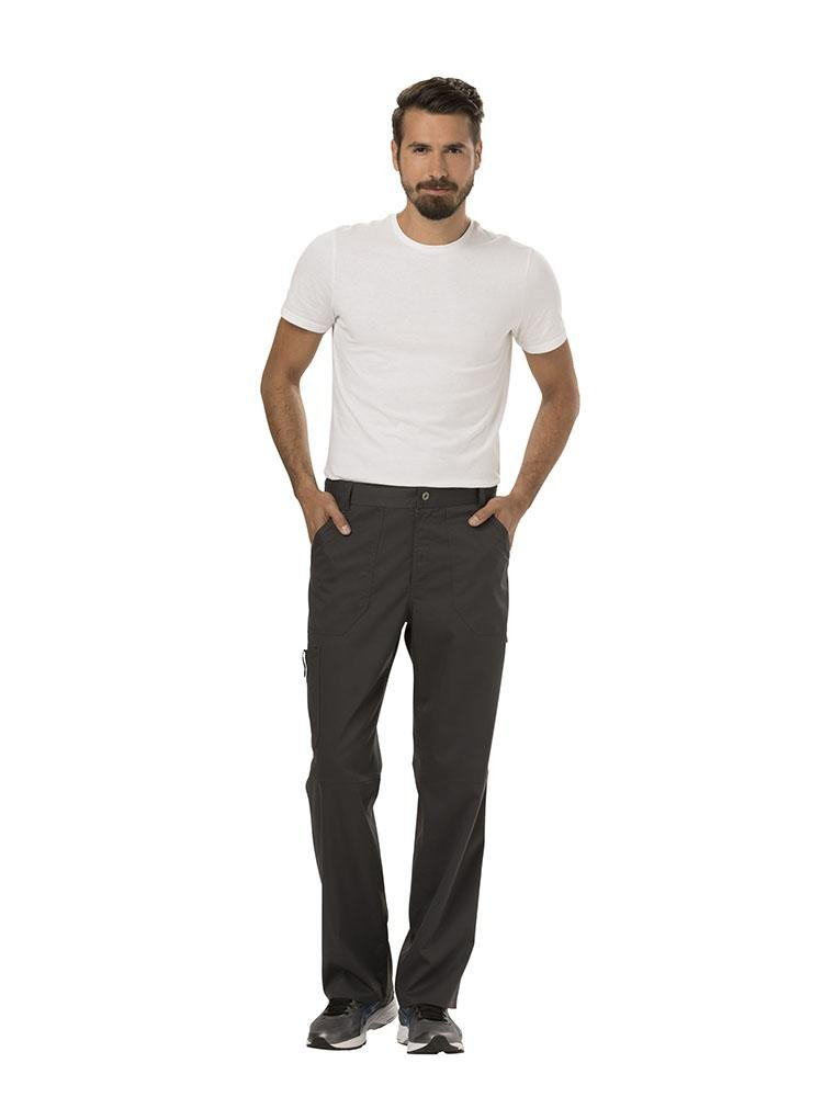 Cherokee Workwear Revolution Men's Drawstring Cargo Scrub Pant | Pewter - Scrub Pro Uniforms