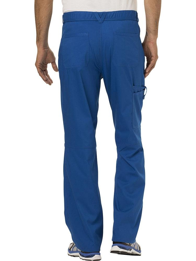 Cherokee Workwear Revolution Men's Drawstring Cargo Scrub Pant | Royal - Scrub Pro Uniforms