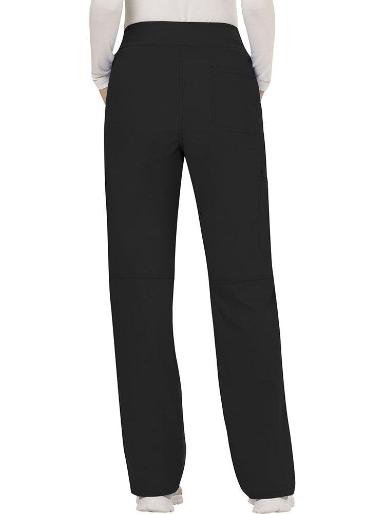 Cherokee Workwear Revolution Women's Elastic Waistband Pull-On Scrub Pant | Black - Scrub Pro Uniforms