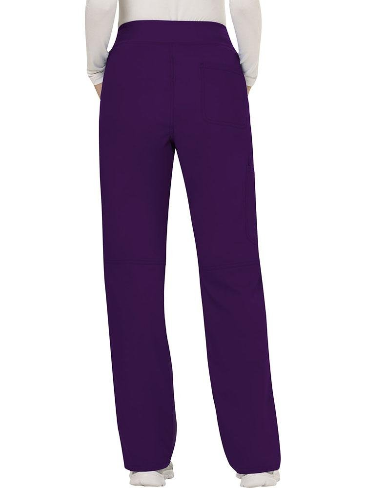 Cherokee Workwear Revolution Women's Elastic Waistband Pull-On Scrub Pant | Eggplant - Scrub Pro Uniforms