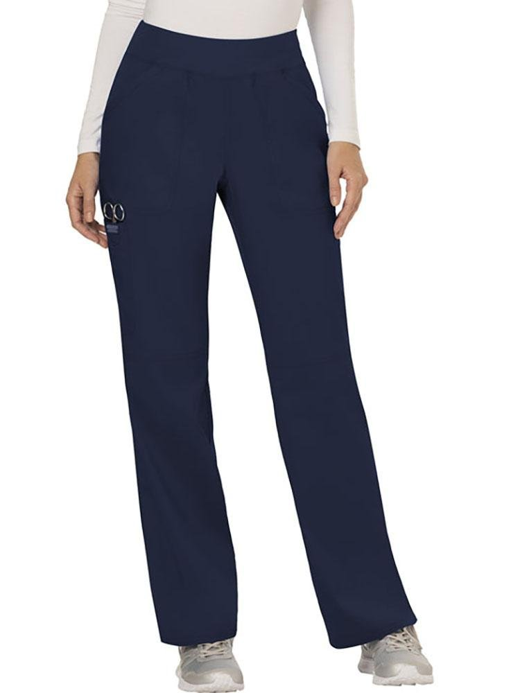 Cherokee Workwear Revolution Women's Elastic Waistband Pull-On Scrub Pant | Navy - Scrub Pro Uniforms