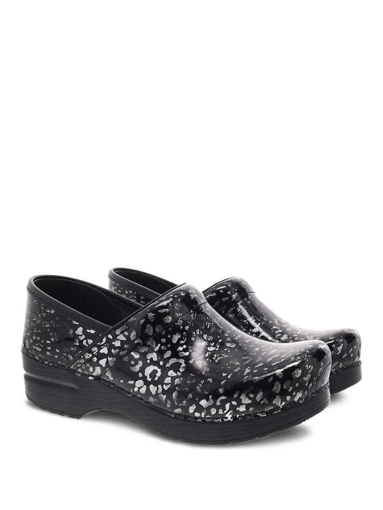 Dansko Professional Nurse's Shoe | Pewter Painted Leopard Patent - Scrub Pro Uniforms