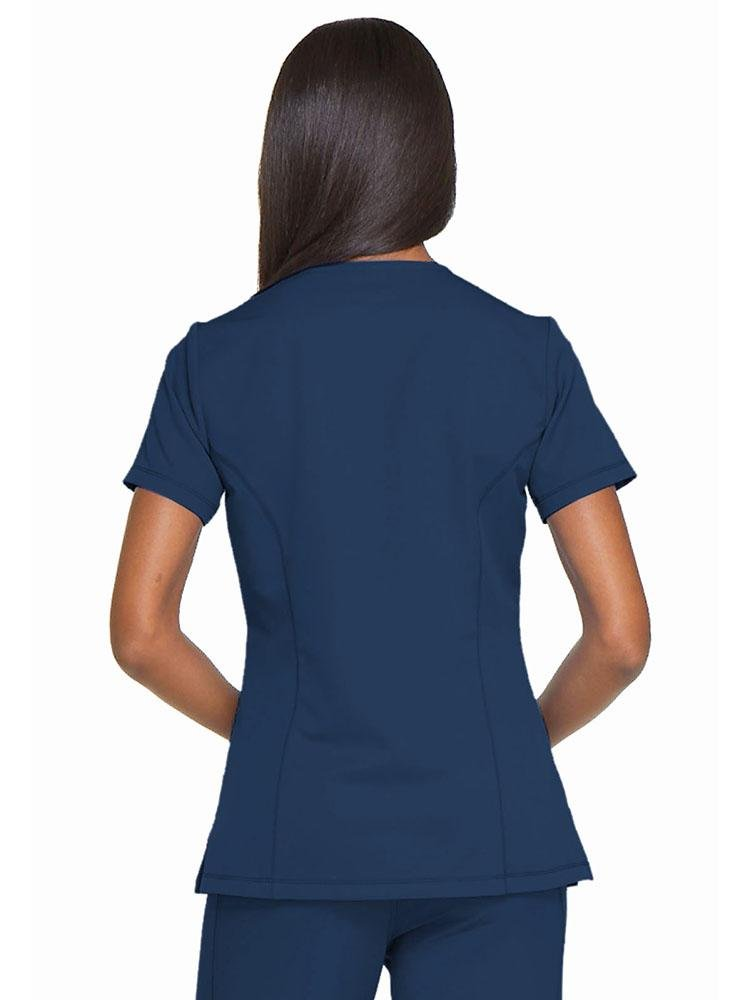 Dynamix Women's Mock Wrap Scrub Top | Navy - Scrub Pro Uniforms