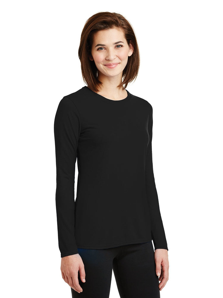 Flexibilitee Women's Crew Neck Long Sleeve Tee | Black - Scrub Pro Uniforms