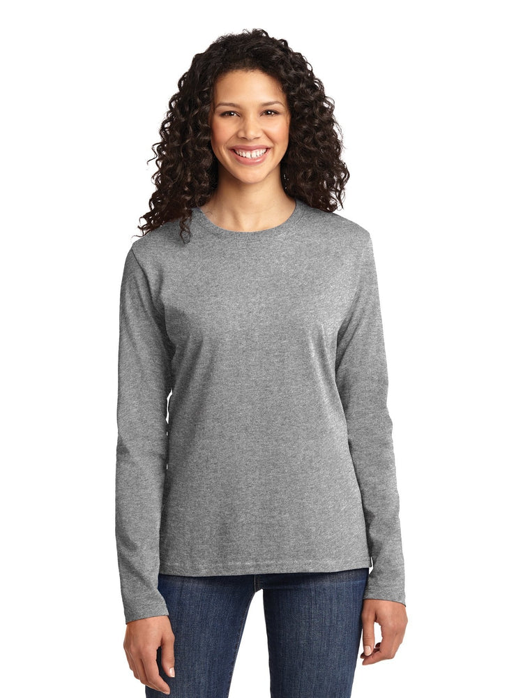 Flexibilitee Women's Crew Neck Long Sleeve Tee | Heather Grey - Scrub Pro Uniforms