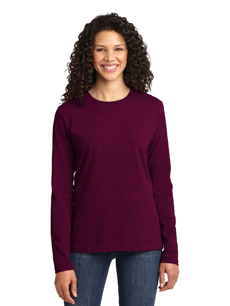 Flexibilitee Women's Crew Neck Long Sleeve Tee | Magenta - Scrub Pro Uniforms
