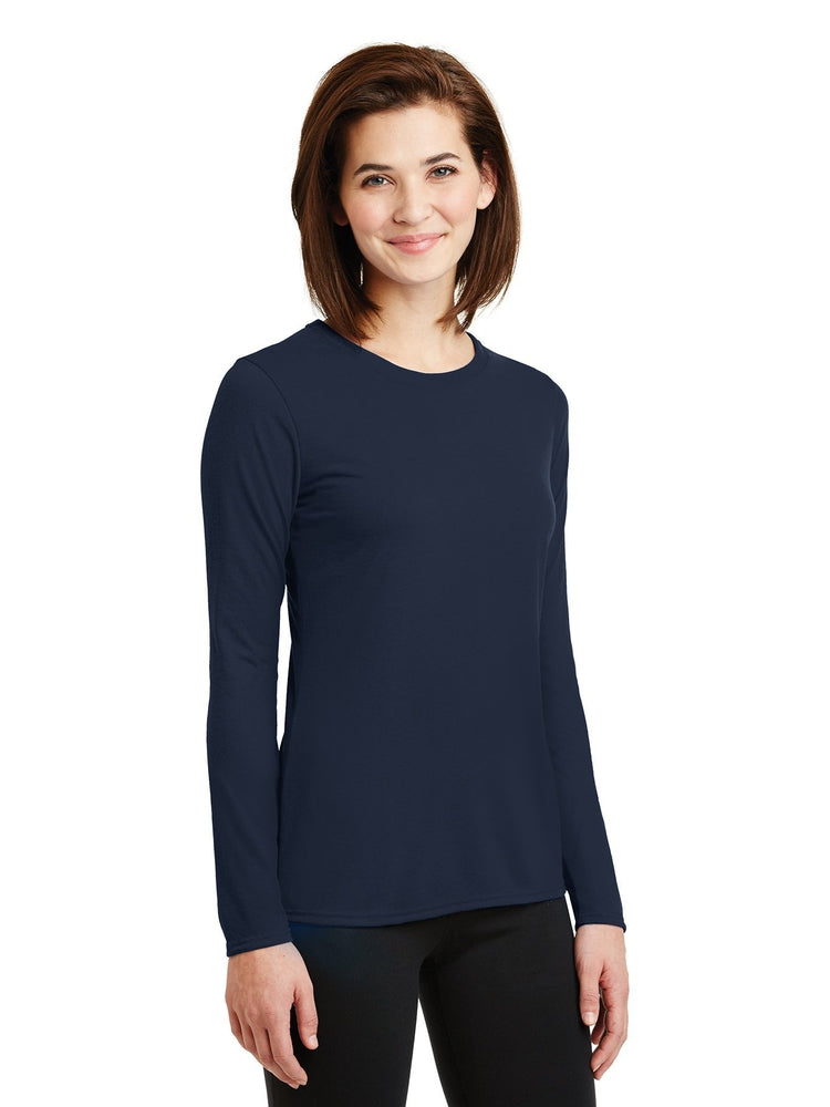 Flexibilitee Women's Crew Neck Long Sleeve Tee | Navy - Scrub Pro Uniforms