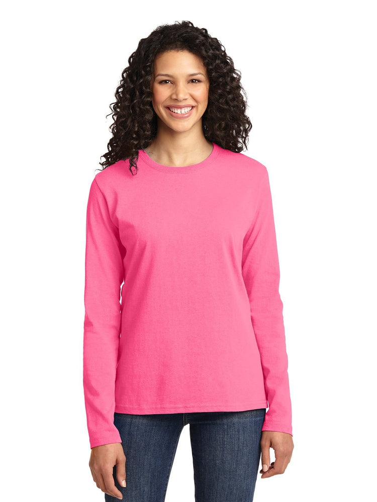 Flexibilitee Women's Crew Neck Long Sleeve Tee | Pink Lemonade - Scrub Pro Uniforms