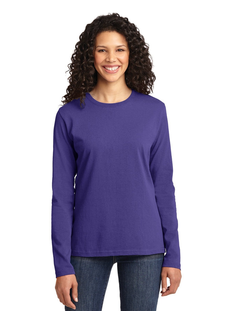 Flexibilitee Women's Crew Neck Long Sleeve Tee | Purple - Scrub Pro Uniforms
