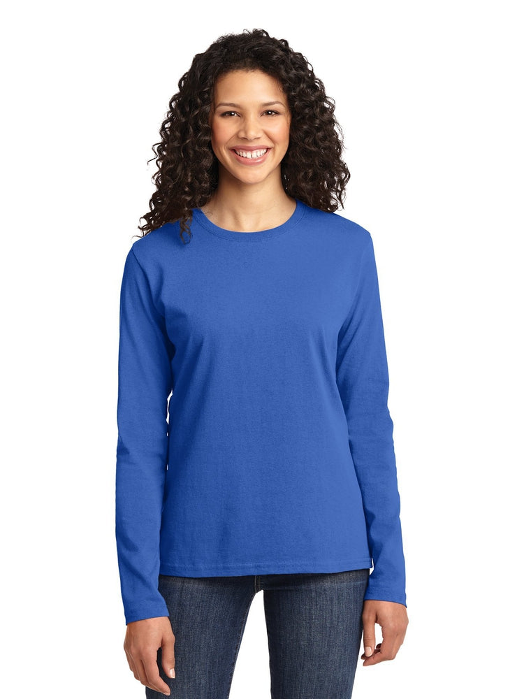 Flexibilitee Women's Crew Neck Long Sleeve Tee | Royal - Scrub Pro Uniforms