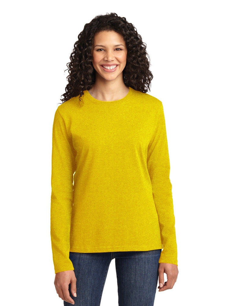 Flexibilitee Women's Crew Neck Long Sleeve Tee | Yellow - Scrub Pro Uniforms