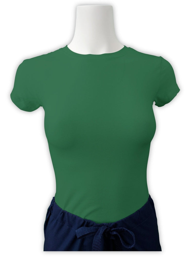 Flexibilitee Women's Crew Neck Short Sleeve Tee | Green - Scrub Pro Uniforms