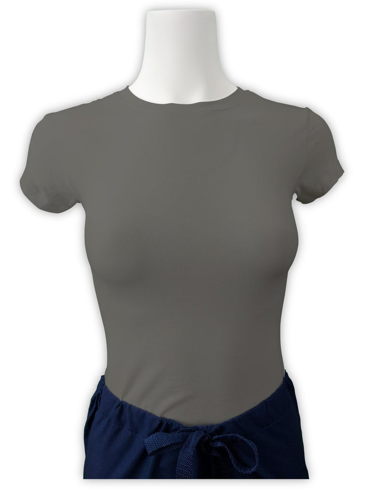 Flexibilitee Women's Crew Neck Short Sleeve Tee | Heather Grey - Scrub Pro Uniforms