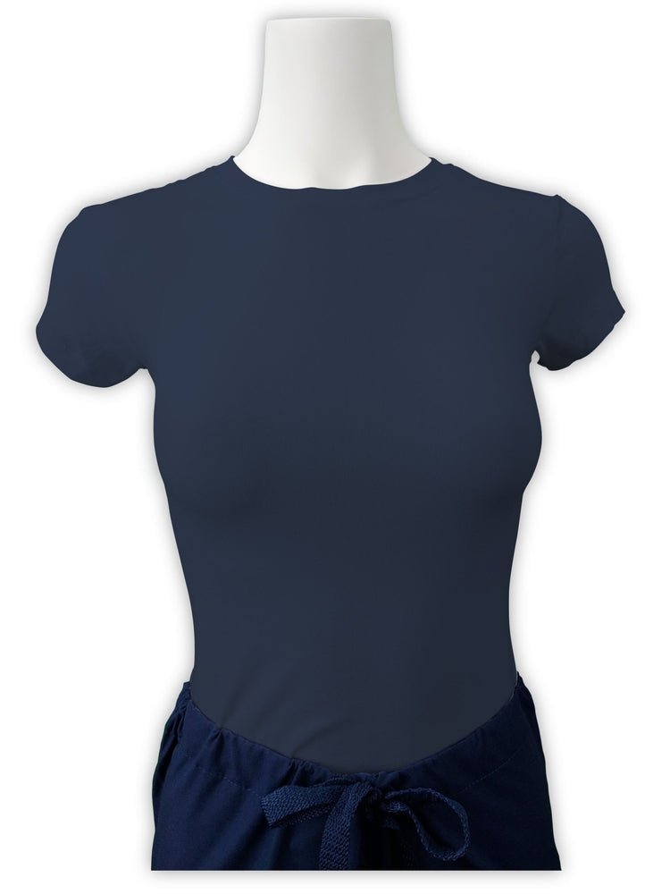 Flexibilitee Women's Crew Neck Short Sleeve Tee | Navy - Scrub Pro Uniforms