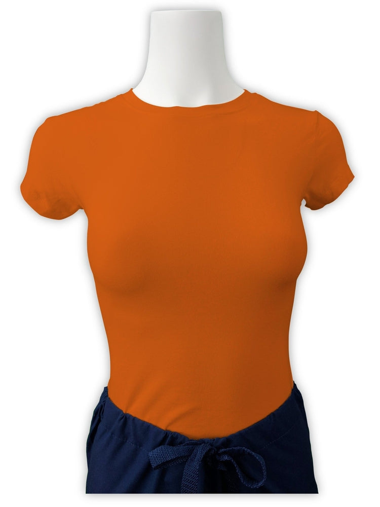 Flexibilitee Women's Crew Neck Short Sleeve Tee | Orange - Scrub Pro Uniforms