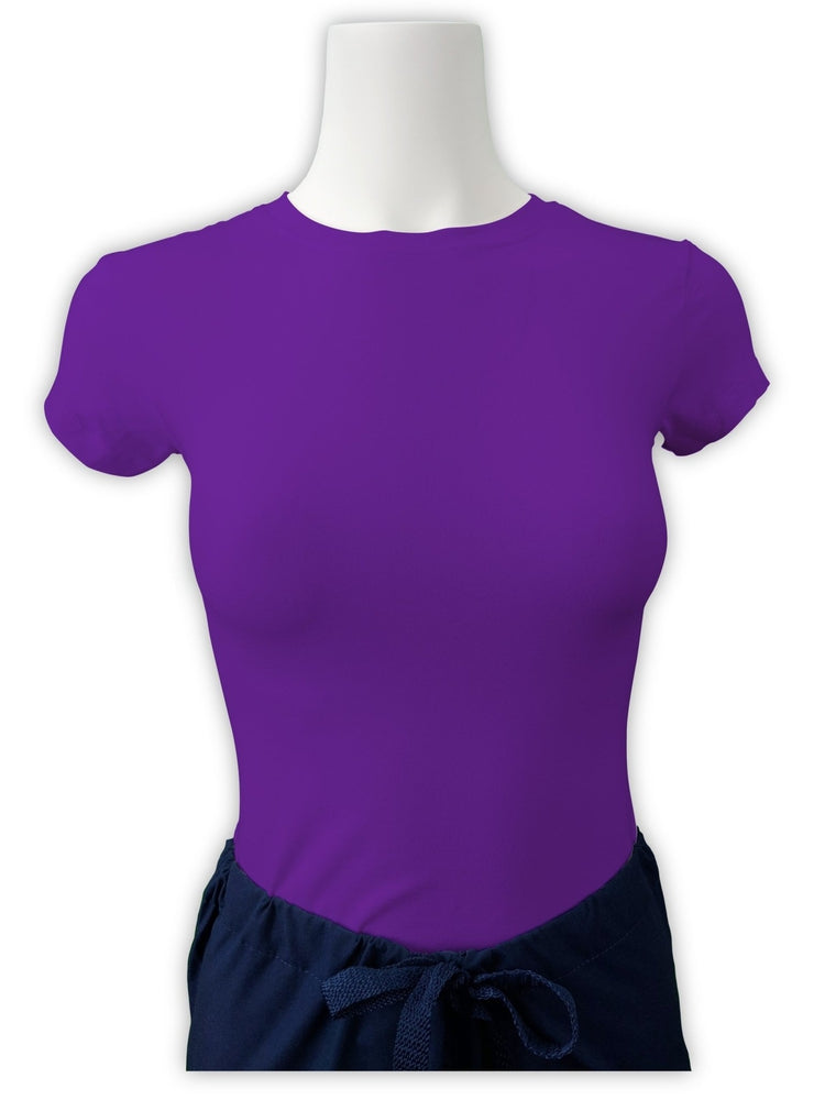 Flexibilitee Women's Crew Neck Short Sleeve Tee | Purple - Scrub Pro Uniforms