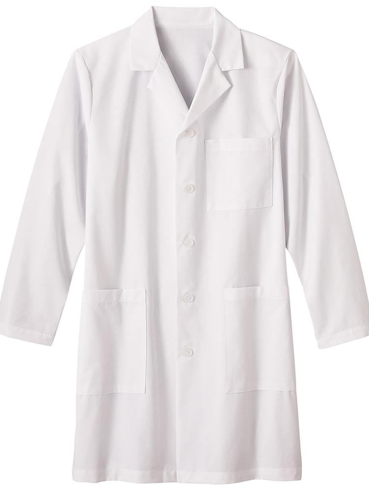 "Fundamentals Men's Notched Collar Multi-Pocket 38"" Lab Coat 