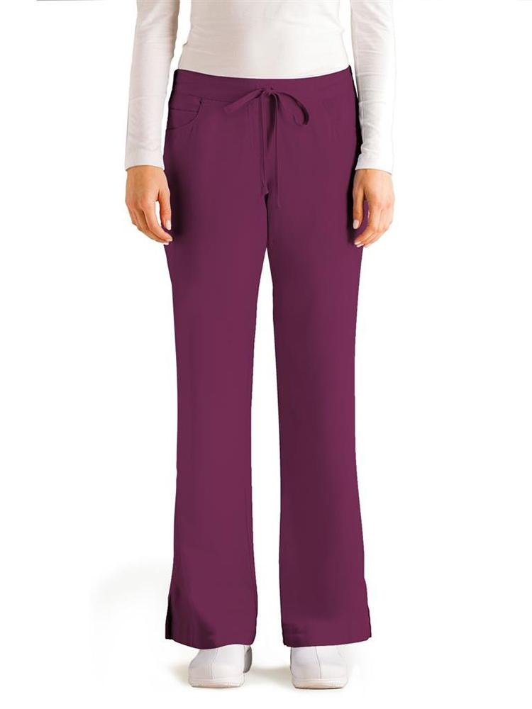 Grey's Anatomy Women's Cargo Scrub Pant | Wine - Scrub Pro Uniforms