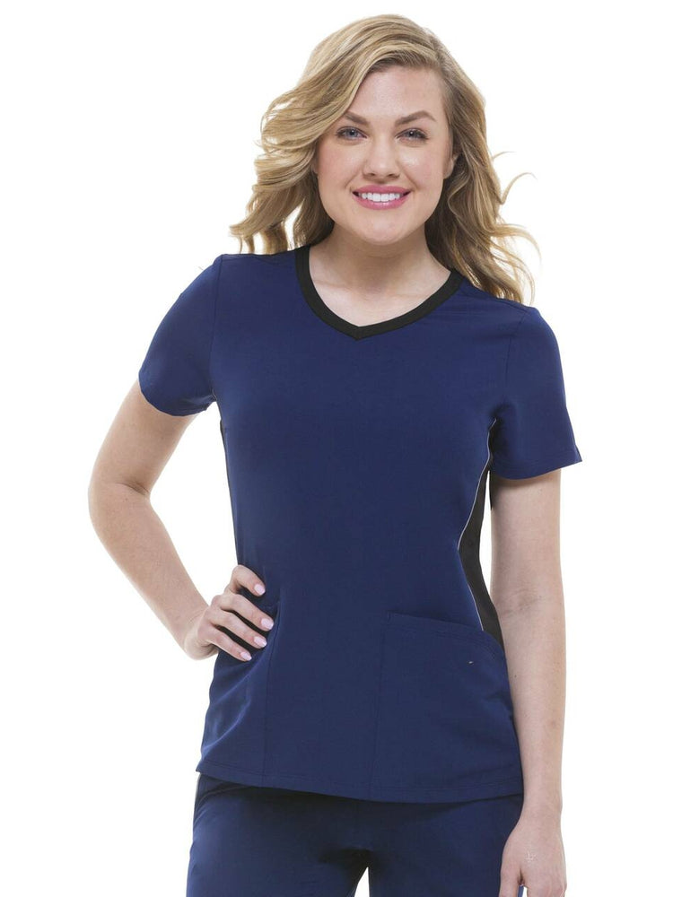 HH-360 Women's Shona V-Neck Scrub Top | Navy - Scrub Pro Uniforms