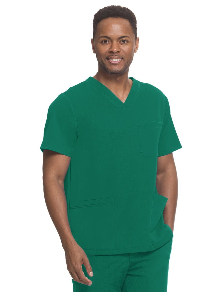 HH-Works Men's Matthew V-Neck Scrub Top | Hunter - Scrub Pro Uniforms