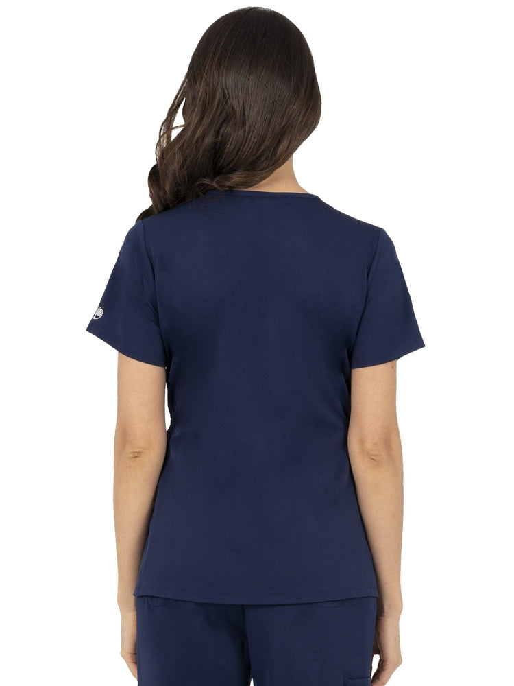 HH-Works Women's Mila Maternity V-Neck Scrub Top | Navy - Scrub Pro Uniforms