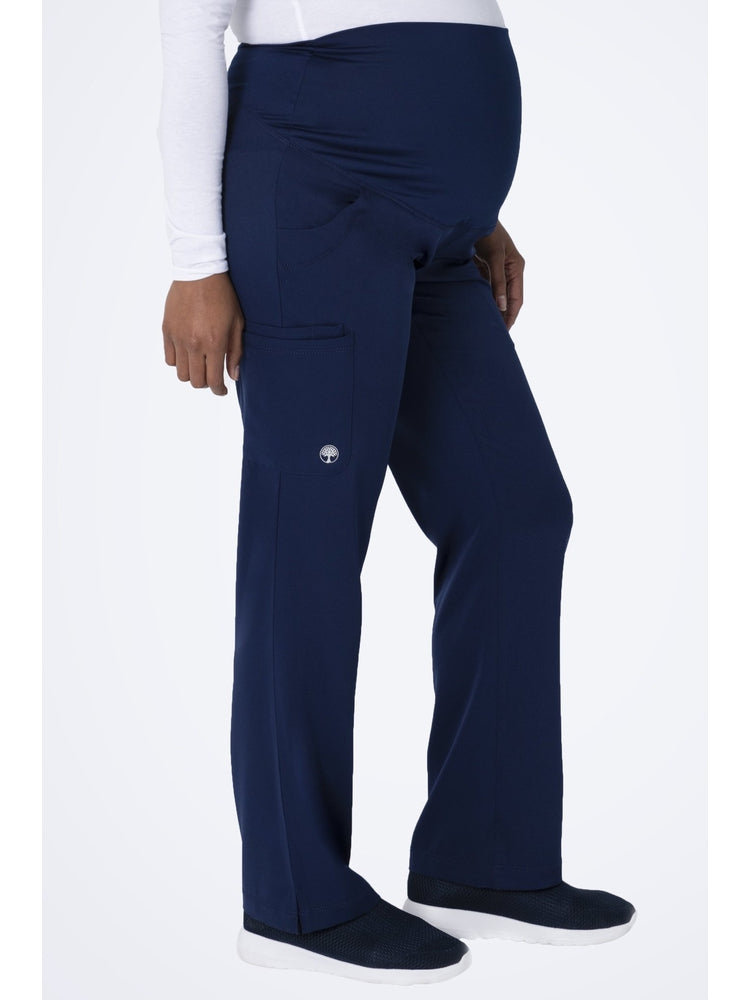 HH-Works Women's Rose Maternity Cargo Scrub Pant | Navy - Scrub Pro Uniforms