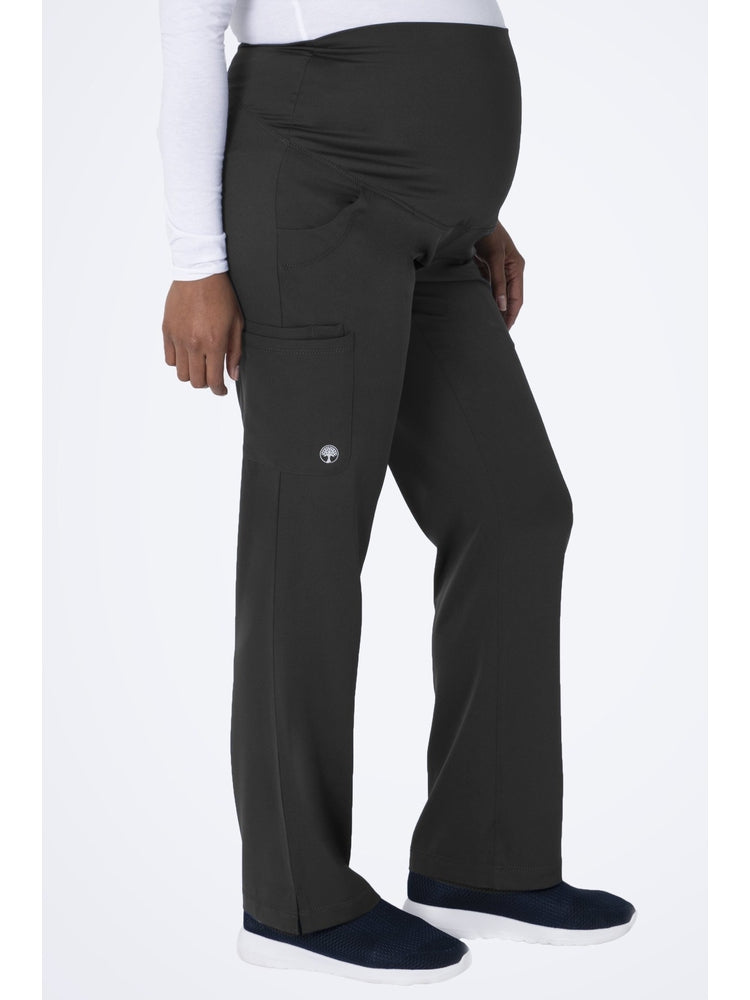 HH-Works Women's Rose Maternity Cargo Scrub Pant | Pewter - Scrub Pro Uniforms