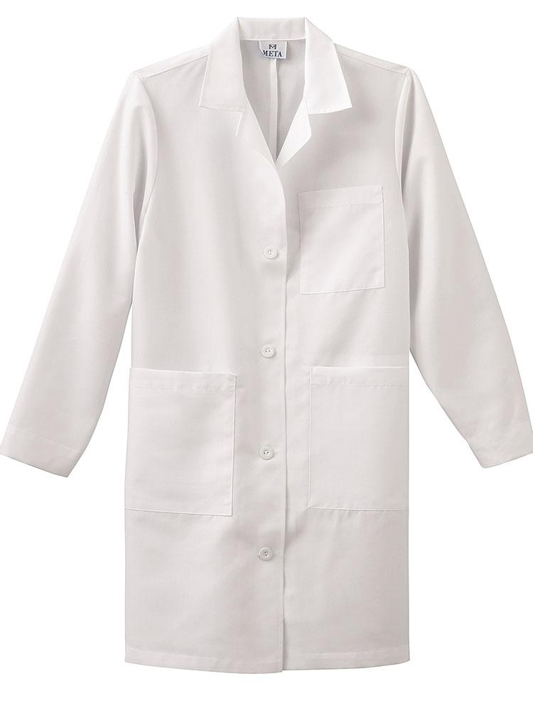 "Meta Labwear Women's Pleated Back 37"" Lab Coat 