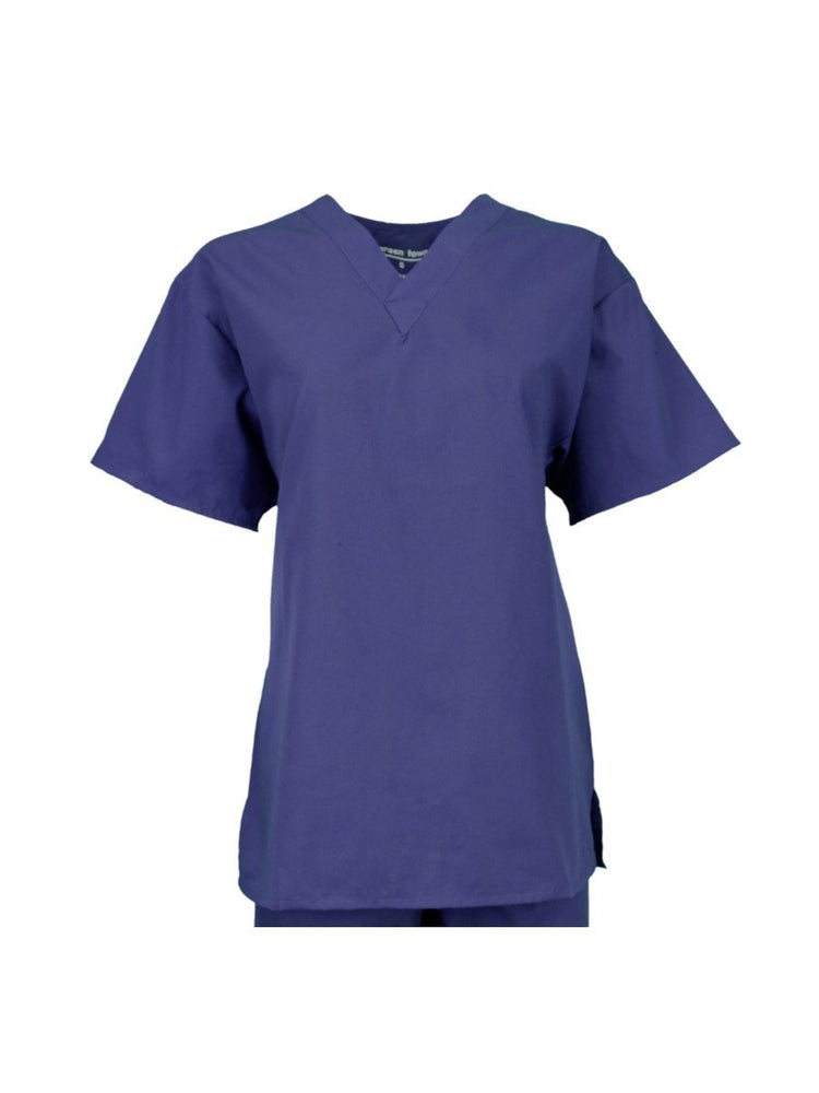 Pocketless Unisex V-Neck Scrub Top | Navy - Scrub Pro Uniforms