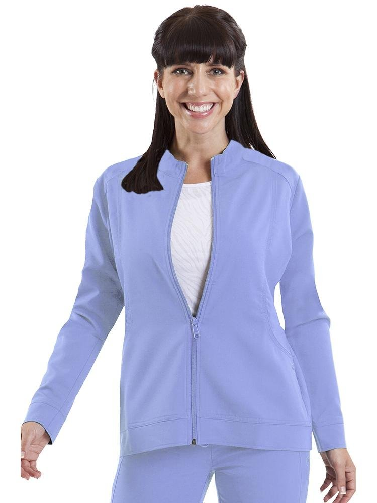 Purple Label Women's Dakota Zip Up Scrub Jacket | Ceil - Scrub Pro Uniforms