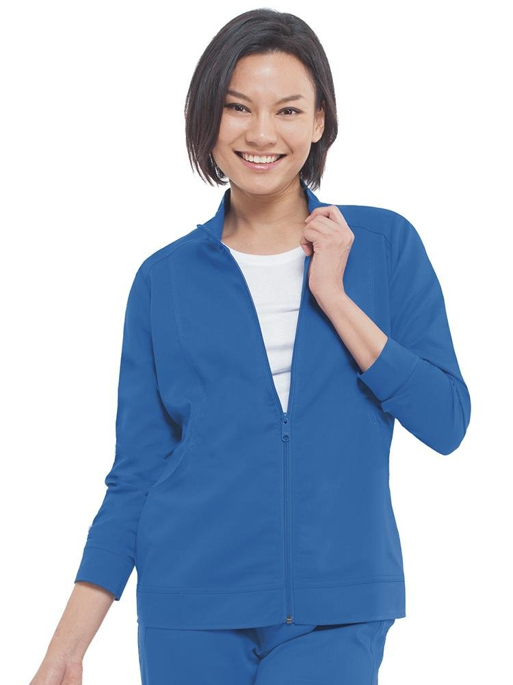 Purple Label Women's Dakota Zip Up Scrub Jacket | Royal - Scrub Pro Uniforms