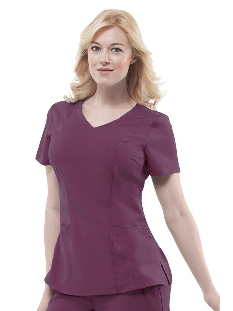 Purple Label Women's Jordan Crossover Scrub Top | Wine - Scrub Pro Uniforms
