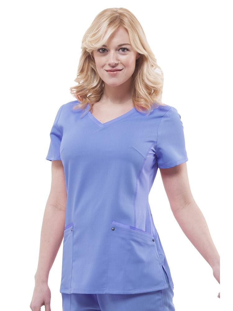 Purple Label Women's Juliet Yoga Scrub Top | Ceil - Scrub Pro Uniforms