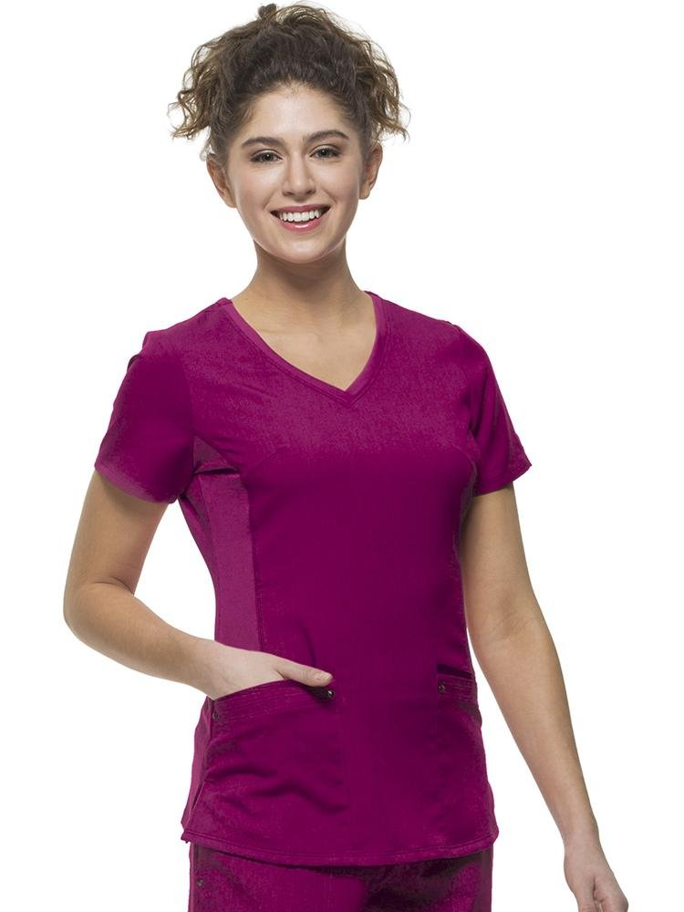 Purple Label Women's Juliet Yoga Scrub Top | Wine - Scrub Pro Uniforms
