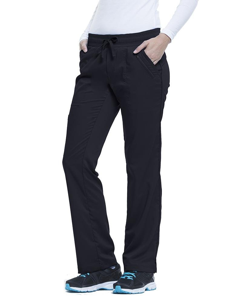 Purple Label Women's Tanya Drawstring Cargo Scrub Pant | Black - Scrub Pro Uniforms