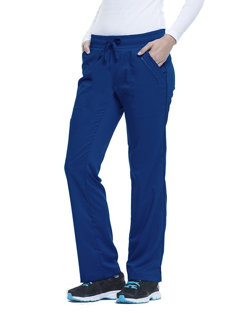 Purple Label Women's Tanya Drawstring Cargo Scrub Pant | Navy - Scrub Pro Uniforms
