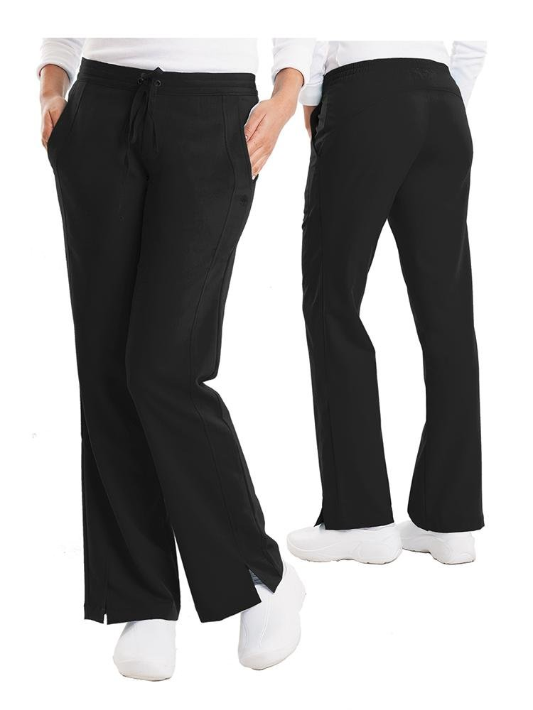 Purple Label Women's Taylor Drawstring Scrub Pant | Black - Scrub Pro Uniforms