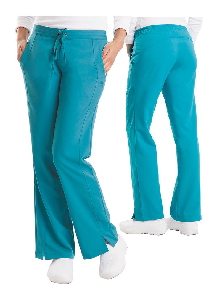 Purple Label Women's Taylor Drawstring Scrub Pant | Teal - Scrub Pro Uniforms