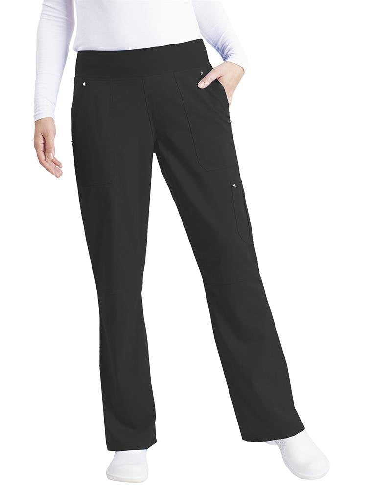 Purple Label Women's Tori Yoga Waistband Scrub Pant | Black - Scrub Pro Uniforms