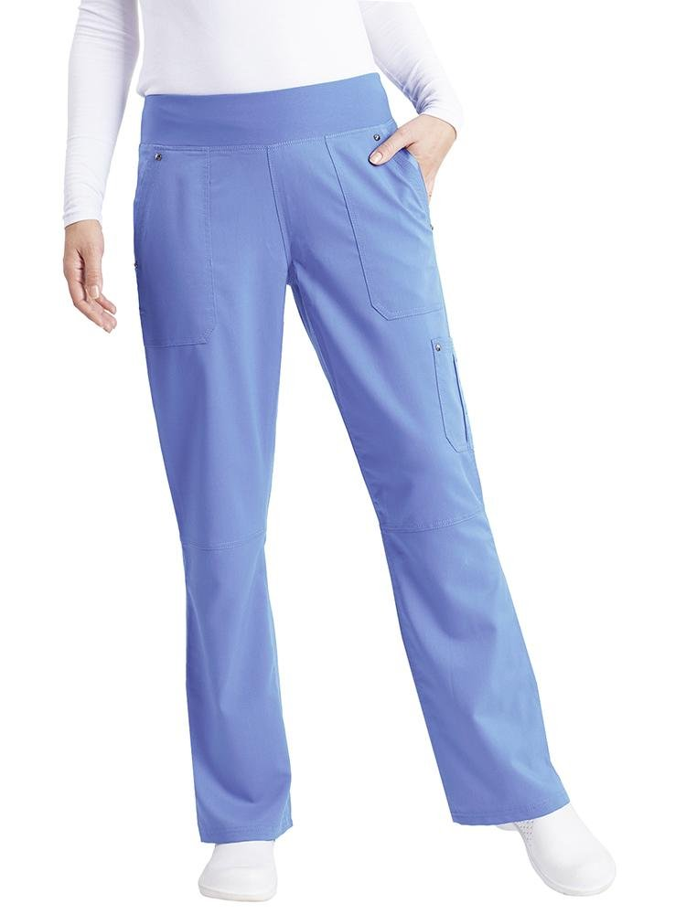 Purple Label Women's Tori Yoga Waistband Scrub Pant | Ceil - Scrub Pro Uniforms