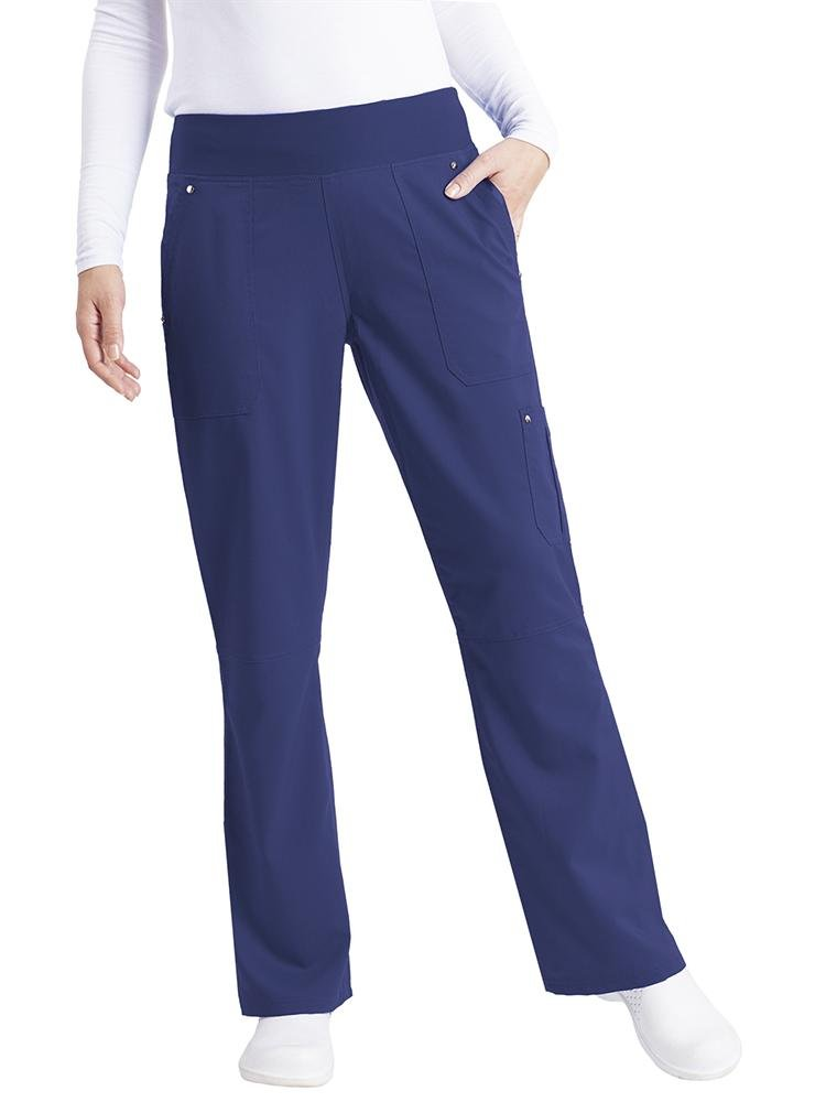 Purple Label Women's Tori Yoga Waistband Scrub Pant | Navy - Scrub Pro Uniforms