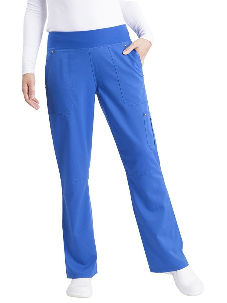 Purple Label Women's Tori Yoga Waistband Scrub Pant | Royal - Scrub Pro Uniforms