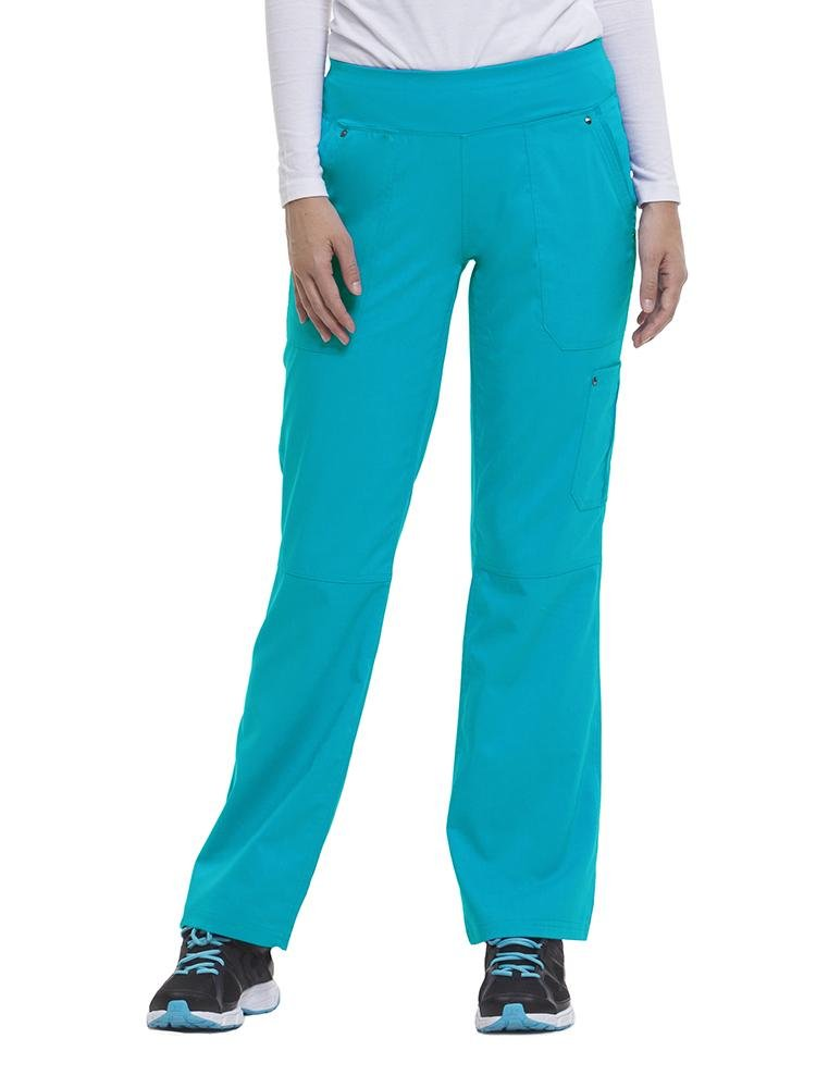 Purple Label Women's Tori Yoga Waistband Scrub Pant | Teal - Scrub Pro Uniforms