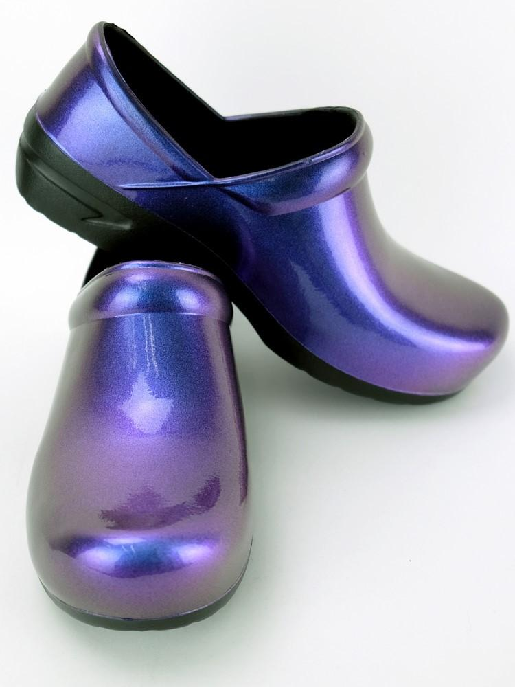 STEPZ Women's Slip Resistant Nurse Clogs | Purple Iridescent - Scrub Pro Uniforms