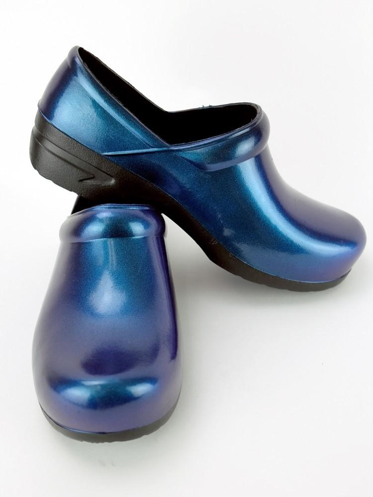 STEPZ Women's Slip Resistant Nurse Clogs | Royal Iridescent - Scrub Pro Uniforms