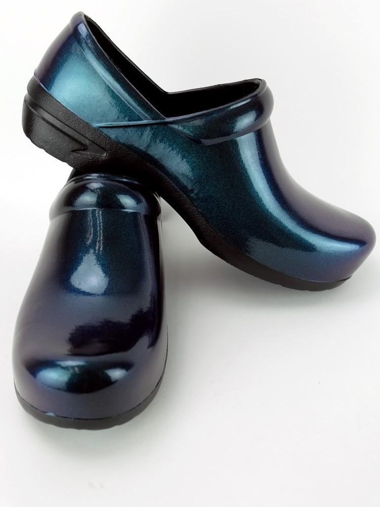 STEPZ Women's Slip Resistant Nurse Clogs | Teal Iridescent - Scrub Pro Uniforms