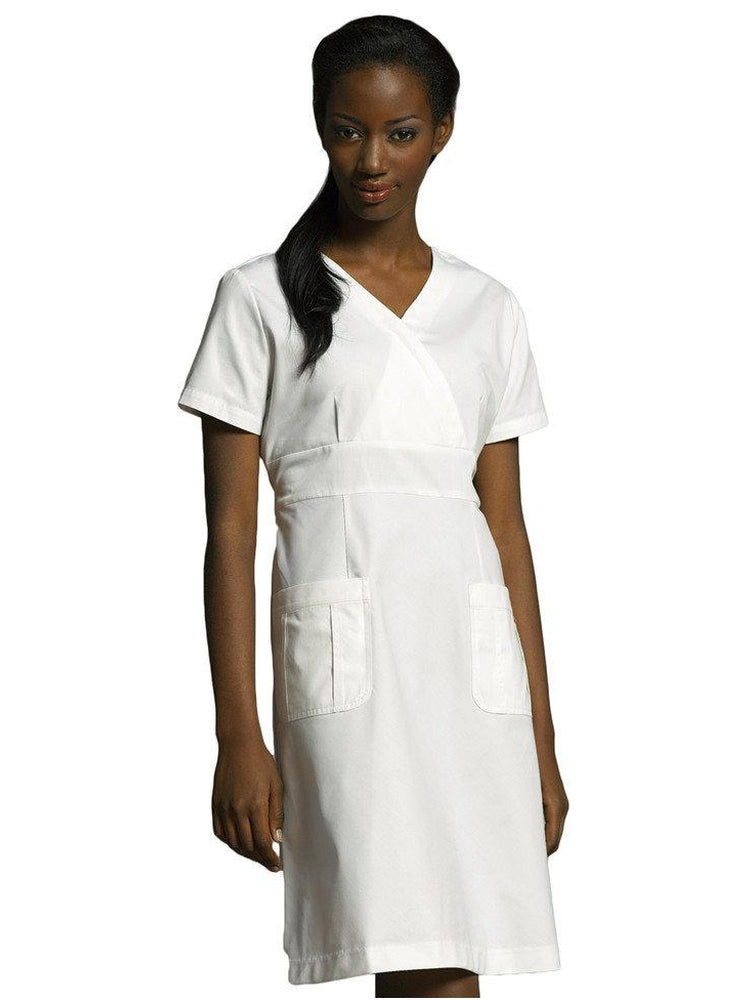 White Cross Women's A-line Scrub Dress | White - Scrub Pro Uniforms