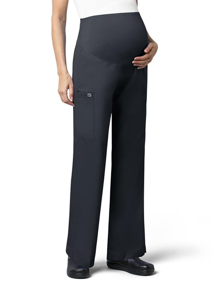 WonderWink Women's Maternity Scrub Pant | Cargo | Pewter - Scrub Pro Uniforms