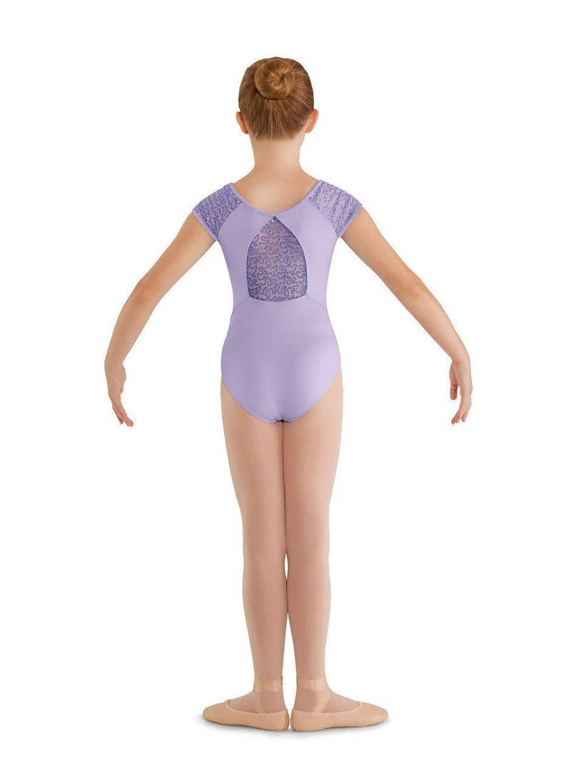 Bloch Mirella Sequin Tulle Cap Sleeve Bodysuit Child M659C